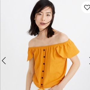 Madewell Texture and Thread Off The Shoulder Top